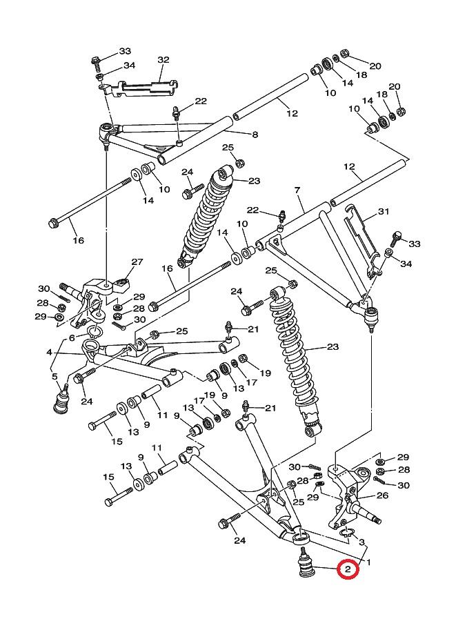 Sworze Wahacza Yamaha Yfz 450 Atv Expert